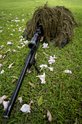 Disguise Photos - Soldier Practices Sniper Tactics by Stocktrek Images