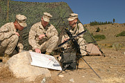 Transmitting Photos - Soldiers Analyze The Finer Points by Stocktrek Images