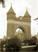 Glass Plate Originals - Soldiers and Sailors Arch Hartford 1886 by Jan Faul