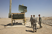 Checking Posters - Soldiers Checking A Radar System Poster by Terry Moore