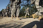 Low Section Art - Soldiers Conduct A Ruck March At Fort by Stocktrek Images