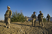 Soldiers Discuss A Strategic Plan Print by Stocktrek Images