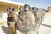 Bracing Prints - Soldiers From The 7th Iraqi Army Print by Stocktrek Images