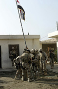 Flagpole Photos - Soldiers From The Iraqi Special Forces by Stocktrek Images