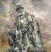 Confederate Monument Posters - Soldiers National Monument War Statue Gettysburg Cemetery  Poster by Randy Steele