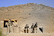 Soldiers Wait For Afghan National Print by Stocktrek Images