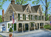 Solebury Framed Prints - Solebury Postoffice Framed Print by Margie Perry