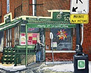 Montreal Storefronts Painting Metal Prints - Soleil Fruits Legumes Metal Print by Reb Frost