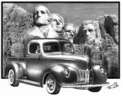 Charcoal Car Framed Prints - Solid As A Rock Framed Print by Peter Piatt