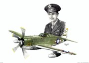 Warbird Mixed Media - Solid Citizen - Capt. Richard Fleischer by Trenton Hill