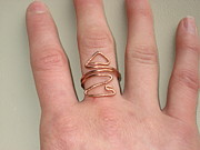 Forged Jewelry - Solid Copper Arrow Ring by Naomi Mountainspring