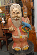 Unknown - Solid Wood Santa Claus