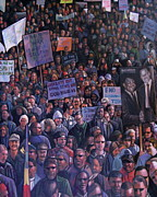 Justice Painting Prints - Solidarity Print by Curtis James