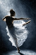 Dancer Prints - Solitaire Print by Richard Young