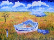 Warren Thompson Art Prints - Solitary Boat  Print by Warren Thompson