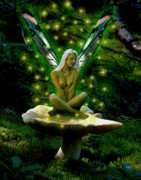 Fantasy Photos - Solitary Fairy by Norman Free