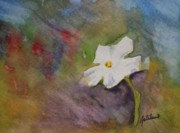 Warm Colors Painting Prints - Solitary Flower Print by Gretchen Bjornson