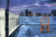 Rooftop Framed Prints - Solitary Framed Print by Mark Richards