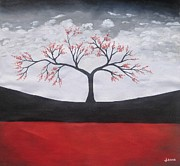 Rejeena Niaz - Solitary Tree-Oil...