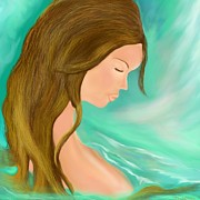 Floating Girl Prints - Solitude 1 Print by Lori  Lovetere