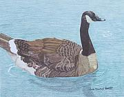 Geese Paintings - Solitude by Anita Putman