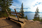 Crater Lake View Prints - Solitude At Crater Lake Print by Adam Jewell