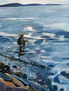 Boston Harbor Paintings - Solitude by Deb Putnam