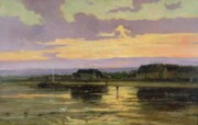 Solitude Paintings - Solitude in the Evening by Marie Joseph Leon Clavel Iwill