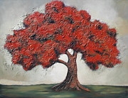 Tree Roots Paintings - Solitude  by Lori McPhee