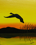 Canadian Marsh Prints - Solo Flight Print by Doug Wilkie