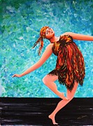 Poise Painting Prints - Solo performance Print by Kaye Miller-Dewing