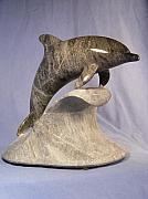 Dolphin Sculpture Originals - Solo Serenity by Depasquale Sculptures