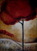 Surreal Landscape Painting Metal Prints - Solo Metal Print by Vickie Warner