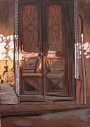 Old Door Pastels - Sololaki-2 by Ramaz Razmadze