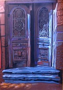 Old Door Pastels - Sololaki-3 by Ramaz Razmadze