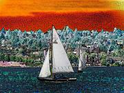 Lake Union Prints - Solstice Sailin Print by Tim Allen