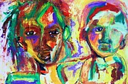 Rights Paintings - Somali hunger by Dareen J Hasan