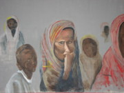 Politics Paintings - Somali Woman by Michelle Ordynans