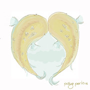 Paige Perkins Art - Somalian Cavefish Heart by Paige Perkins