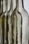Glass Bottle Metal Prints - Somber Bottles Metal Print by Joe Bonita