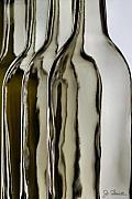 Somber Bottles Print by Joe Bonita
