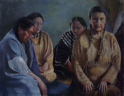 Native American Pastels - Somber Prayers by Marcus Moller