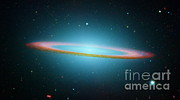 Surveys Posters - Sombrero Galaxy M104, Ir Image Poster by NASA / Science Source
