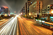 Blurred Motion Framed Prints - Some Beijing Street Framed Print by Tony Shi Photography