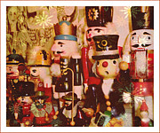 Nutcrackers Prints - Some Flakey Nutcrackers Print by Mindy Newman