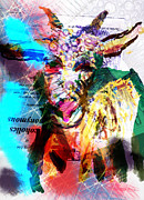 Goat Digital Art Metal Prints - Some Girls Metal Print by James Thomas