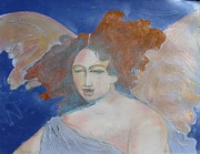 Angels Drawings - Some One To Watch Over Me by Diane montana Jansson