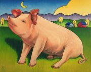 Pig Paintings - Some Pig by Stacey Neumiller