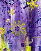Cogs Painting Framed Prints - Some small hazy notion Framed Print by Regina Valluzzi