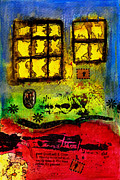 Glass Reflections Mixed Media Framed Prints - Someone THREW Stones and Broke All the Windows Framed Print by Angela L Walker